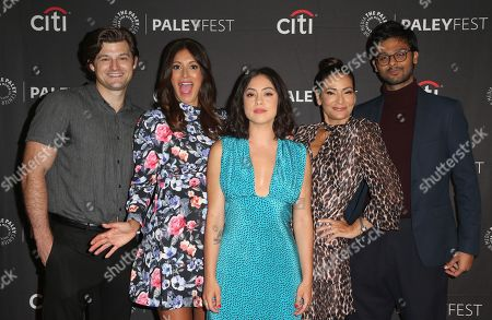 Kevin Bigley, Angelique Cabral, Rosa Salazar, Constance Marie and Siddharth Dhananjay