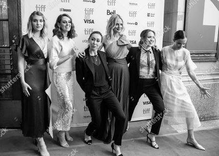 Sophie Nelisse, Katie Bird Nolan, Aisling Chin-Yee, Heather Graham, Lindsay Tapscott and Jodi Balfour