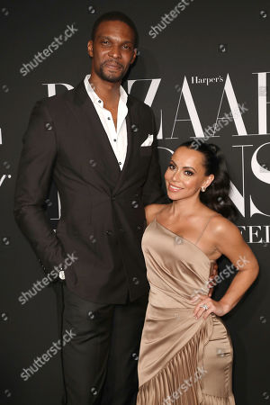 Stock Image of Chris Bosh and Adrienne Williams