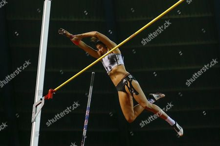 Jennifer Suhr (USA), Women's Pole Vault, during the IAAF Diamond League event at the King Baudouin Stadium, Brussels