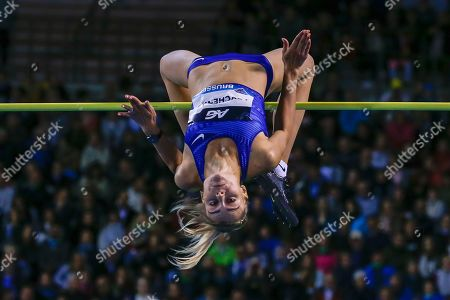 Stock Photo of Yuliya Levchenko (Ukraine), Women's High Jump, during the IAAF Diamond League event at the King Baudouin Stadium, Brussels