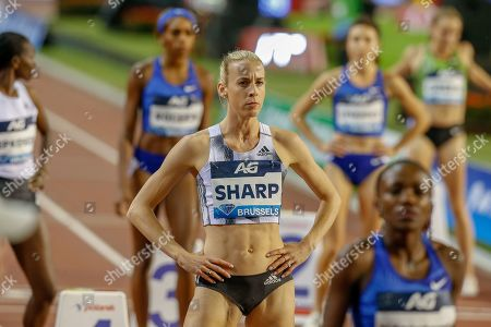 Lynsey Sharp (Great Britain) after the Women's 800m during the IAAF Diamond League event at the King Baudouin Stadium, Brussels