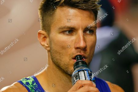 Andrew Pozzi (Great Britain) after the Men's 110m Hurdles during the IAAF Diamond League event at the King Baudouin Stadium, Brussels