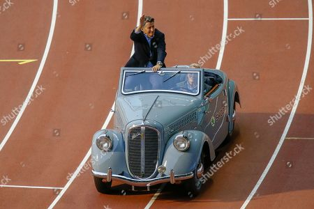 Lord Sebastian Coe, President of the IAAF, during the Opening Ceremony of IAAF Diamond League event at the King Baudouin Stadium, Brussels