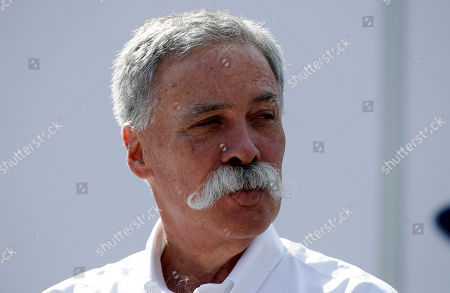 Stock Picture of CEO of the Formula One Group, Chase Carey arrives prior to the third free practice at the Monza racetrack, in Monza, Italy, Saturday, Sept.7, 2019. The Formula one race will be held on Sunday