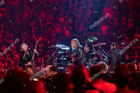 Editorial photo of Metallica in concert with the San Francisco Symphony at Chase Center, San Francisco, USA - 06 Sep 2019