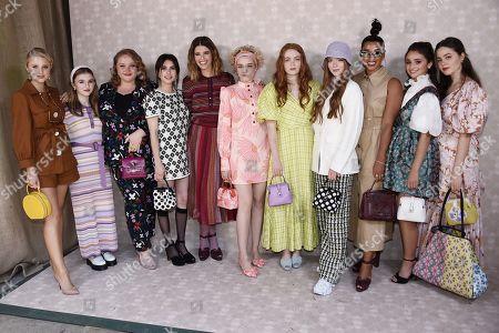 Danielle Macdonald, Emma Roberts, Sadie Sink, Julia Garner, Katherine Schwarzenegger, Julia Schlaepfer and Emma Nelson