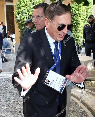 Retired United States General David H. Petraeus arrives to attend the Forum The European House - Ambrosetti, in Cernobbio, northern Italy, 07 September 2019.