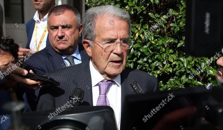 Former Italian Premier Romano Prodi  arrives to attend the Forum The European House - Ambrosetti, in Cernobbio, northern Italy, 07 September 2019.