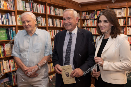 Sir David Attenborough, author Peter Rhys-Evans and Nigella Lawson