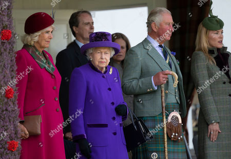 Stock Photo of Queen Elizabeth II, Prince Charles, Camilla Duchess of Cornwall and Autumn Phillips
