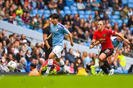 Editorial image of Manchester City Women v Manchester United Women, FA Women's Super League - 07 Sep 2019