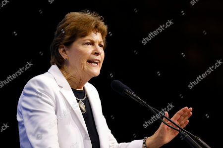 Stock Photo of Sen. Jeanne Shaheen, D-N.H., speaks during the New Hampshire state Democratic Party convention, in Manchester, NH