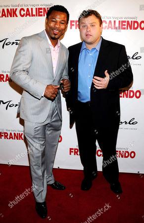 """Sugar"" Shane Mosley and Frank Caliendo"