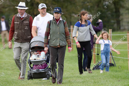 Tim Laurence, Mike Tindall, Lena Elizabeth Tindall, Princess Anne and Mia Grace Tindall