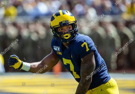 Michigan wide receiver Tarik Black (7) in action in the first quarter of an NCAA football game against Army in Ann Arbor, Mich., . Michigan won 24-21 in double-overtime