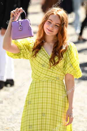 Sadie Sink in the front row