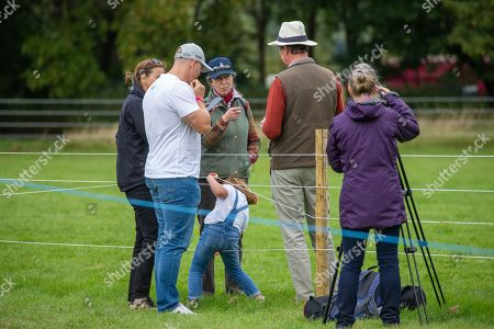 Mike Tindall, Lena Elizabeth Tindall, Tim Laurence, Princess Anne and Mia Grace Tindall