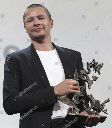 Toby Wallace holds his Marcello Marcello Mastroianni Award for Young Actor for his performance in the movie 'Babyteeth' during the awarding ceremony of the 76th annual Venice International Film Festival, in Venice, Italy, 07 September 2019. The festival runs from 28 August to 07 September.