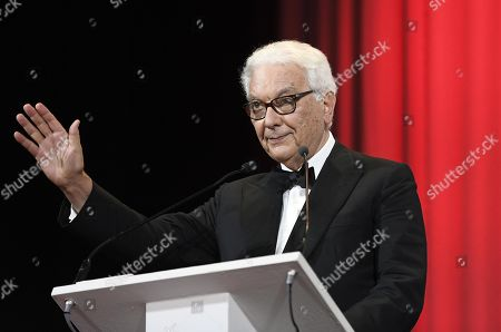 Venice Biennale President Paolo Baratta speaks on stage during the awarding ceremony of the 76th annual Venice International Film Festival, in Venice, Italy, 07 September 2019. The festival runs from 28 August to 07 September.