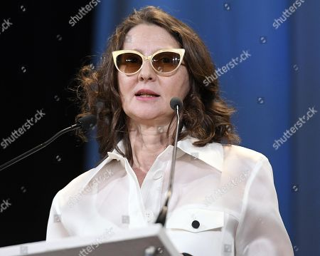 Argentinian film director, screenwriter and festival jury president Lucrecia Martel speaks on stage during the awarding ceremony of the 76th annual Venice International Film Festival, in Venice, Italy, 07 September 2019. The festival runs from 28 August to 07 September.