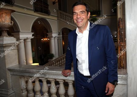 Greek former premier and Syriza party president Alexis Tsipras at the forum the European house Ambrosetti held in Cernobbio, Italy, 07 September 2019. The 45th editiion edition of the annual international economic conference takes place from 06 to 08 September 2019.