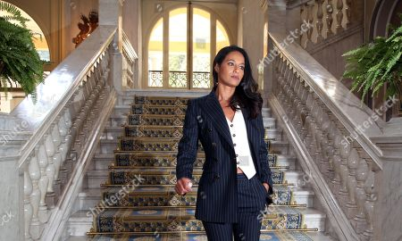 Palestinian journalist Rula Jebreal attends during the forum the European house Ambrosetti held in Cernobbio, Italy, 07 September 2019. The 45th editiion edition of the annual international economic conference takes place from 06 to 08 September 2019.