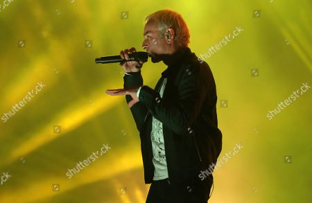 Stock Picture of Karl Hyde of British electronic music group Underworld performs at Lollapalooza Berlin 2019 at the Olympiastadion (Olympic stadium) in Berlin, Germany, 07 September 2019. The music festival runs from 07 to 08 September.