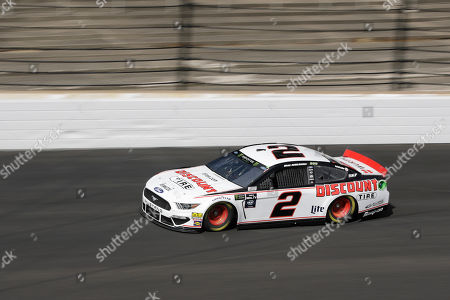 Monster Energy NASCAR Cup Series driver Brad Keselowski drives into turn one during practice for the NASCAR Brickyard 400 auto race at the Indianapolis Motor Speedway, in Indianapolis