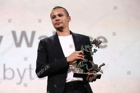 Toby Wallace holds the Marcello Mastroianni Award for Best New Talent for his role in 'Babyteeth' at the closing ceremony of the 76th edition of the Venice Film Festival, Venice, Italy