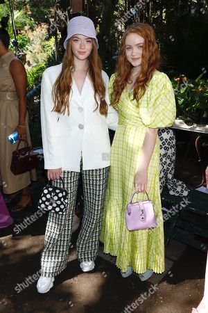 Larsen Thompson and Sadie Sink in the front row