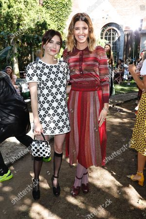 Emma Roberts and Katherine Schwarzenegger in the front row