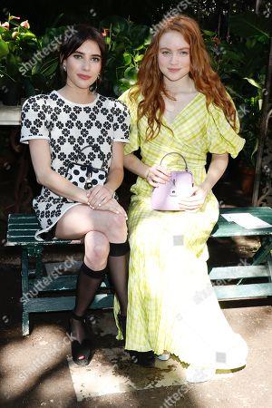 Emma Roberts and Sadie Sink in the front row