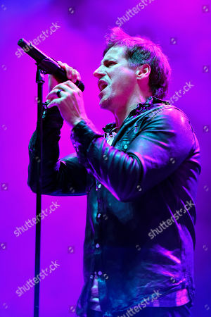 "Raine Maida of Our Lady Peace performs on ""THE ALTIMATE TOUR"" at the Hollywood Casino Amphitheatre, in Tinley Park, Ill"