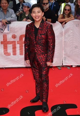 """Albert Tsai attends the premiere of """"Abominable"""" on day three of the Toronto International Film Festival at Roy Thomson Hall, in Toronto"""