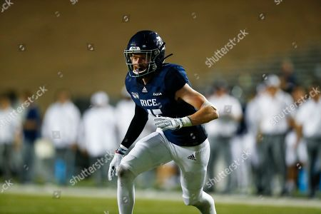 Rice defensive back Andrew Bird (15) runs toward the play during an NCAA football game on in Houston