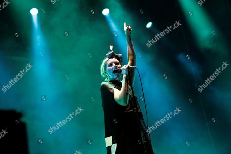 Singer of the Swedish band The Cardigans, Nina Persson, performs on stage during the festival Dcode 2019 held at Campus Complutense University in Madrid, Spain, 07 September 2019.