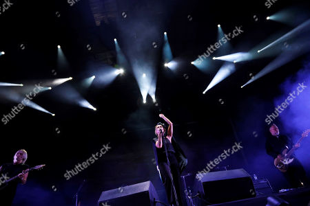 Stock Photo of Singer of the Swedish band The Cardigans, Nina Persson, performs on stage during the festival Dcode 2019 held at Campus Complutense University in Madrid, Spain, 07 September 2019.