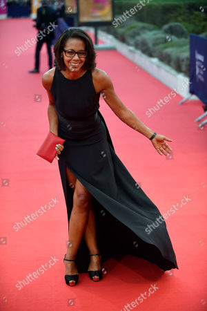 French journalist Audrey Pulvar arrives on the red carpet prior to the premiere 'Music of My Life (Blinded by the Light)' during the 45th Deauville American Film Festival, in Deauville, France, 07 September 2019. The festival runs from 06 to 15 September.