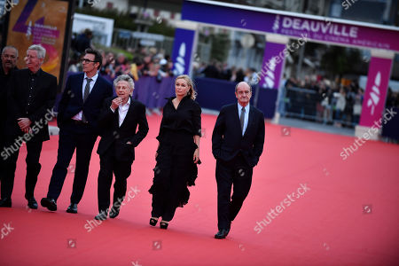 French director Jean Pierre Jeunet, French director Regis Wargnier, French director Michel Hazanavicius, Polish-French director Roman Polanski, French actress Emmanuelle Beart and French journalist Pierre Lescure arrive on the red carpet prior to the premiere 'Music of My Life (Blinded by the Light)' during the 45th Deauville American Film Festival, in Deauville, France, 07 September 2019. The festival runs from 06 to 15 September.