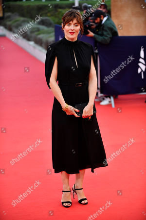Stock Photo of Valerie Donzelli arrives on the red carpet prior to the premiere 'Music of My Life (Blinded by the Light)' during the 45th Deauville American Film Festival, in Deauville, France, 07 September 2019. The festival runs from 06 to 15 September.