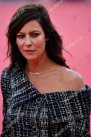 French actress and Revelation Jury members Anna Mouglalis arrives on the red carpet prior to the premiere 'Music of My Life (Blinded by the Light)' during the 45th Deauville American Film Festival, in Deauville, France, 07 September 2019. The festival runs from 06 to 15 September.