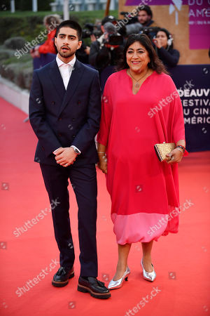 Viveik Kalra (L) and British director Gurinder Chadha arrive on the red carpet prior to the premiere 'Music of My Life (Blinded by the Light)' during the 45th Deauville American Film Festival, in Deauville, France, 07 September 2019. The festival runs from 06 to 15 September.