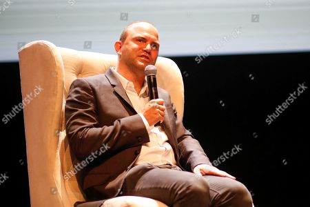 US writer Ben Rhodes participates in a conversation, during El Hay Festival, in Queretaro, Mexico, 07 September 2019. The festival takes place in Queretaro, an event that brings together more than 110 renowned writers, musicians, illustrators, thinkers and scientists such as the Colombian Juan Manuel Santos or the actor Diego Luna.