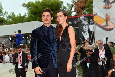 Luca Marinelli, Alissa Jung during closing ceremony red carpet