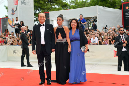 la madrina Alessandra Mastronardi with her family during closing ceremony red carpet