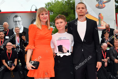 Shannon Murphy, Eliza Scanlen, Toby Wallace during closing ceremony red carpet