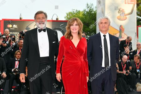 Emmanuelle Seigner and Luca Barbareschi during closing ceremony red carpet