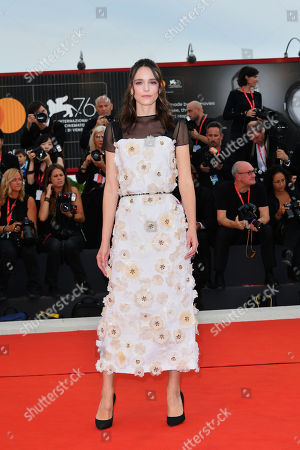 Stacy Martin during closing ceremony red carpet