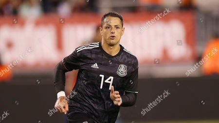 Mexico forward Javier Hernandez runs up the pitch during an international friendly soccer match against the the United States, in East Rutherford, N.J. Mexico won 3-0